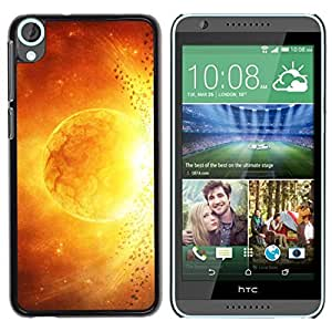PC/Aluminum Funda Carcasa protectora para HTC Desire 820 Sun Star Magma Fire Art Yellow Red Apocalypse / JUSTGO PHONE PROTECTOR