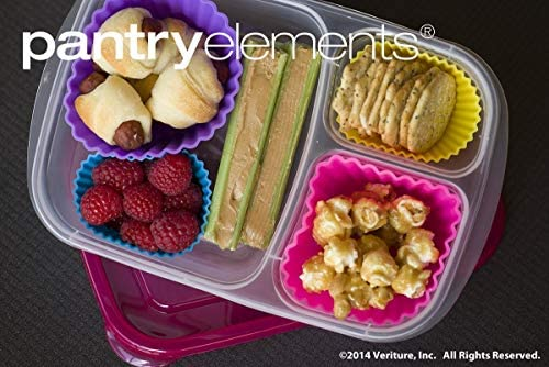 Pantry Elements Jumbo Silicone Muffin Cups 12 Large 3-5//8 inch Baking Liners with Bonus Screw Top Storage Jar
