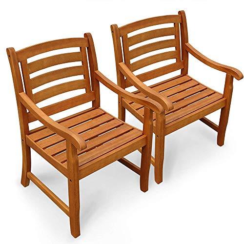 Indoba - Juego de 2 sillas de jardín Plegables Respaldo bajo ...