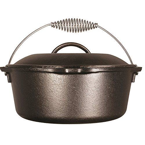 Lodge Logic Dutch Oven 5 Qt. Cast Iron Pre-Seasoned 10-1/4