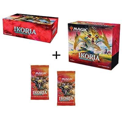 MTG Magic The Gathering Ikoria Lair of Behemoths Booster Box, Bundle, 2 Collector Packs: Toys & Games [5Bkhe0203420]