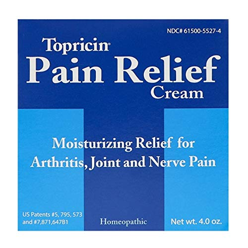 Tunnel Syndrome Pain Relief Cream - Topricin Pain Relief Cream 4 Oz, 3 Pack