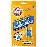 Arm & Hammer 71041 Easy-Tie Waste Bags, Blue, 150-Pack