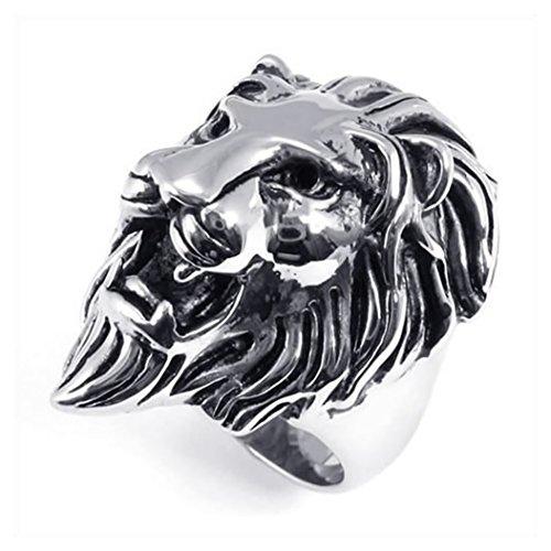 lion head ring - 6
