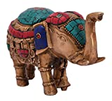 Exotic India VZF833 Elephant with Upraised Trunk Sculptures