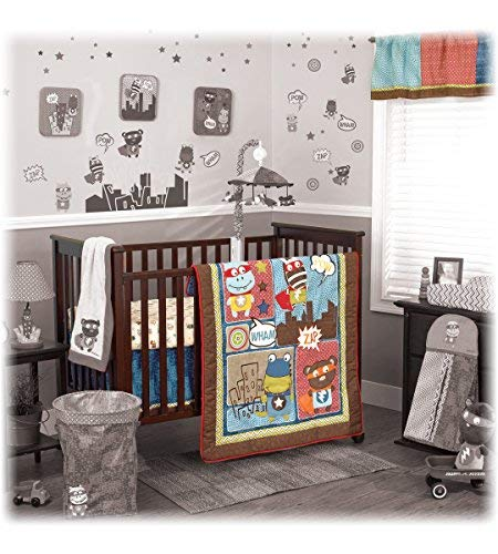 (Cocalo Superhero Pals 4-Piece Crib Bedding)