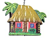 Tropical Island Hut Hand Carved Wood Ceiling Fan Light Pull