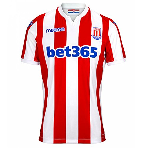 Macron 2018-2019 Stoke City Home Football Soccer T-Shirt ()