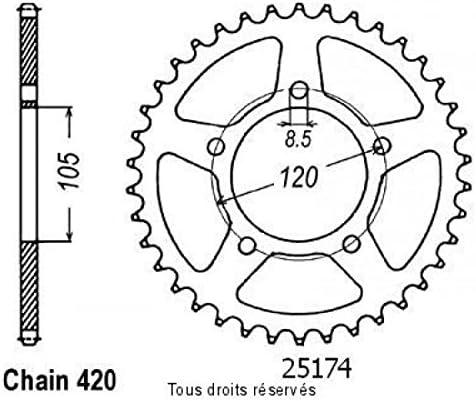 Simile a JTR2056 Sifam Corona Aprilia 50 Rx 1999-5 Fori 420-51 Denti