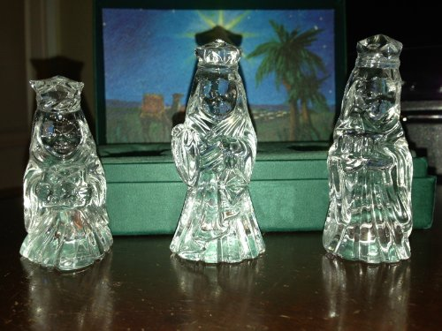 Marquis by Waterford Crystal NATIVITY The 3 Wise Men / King, Set of - Figurines Waterford Nativity