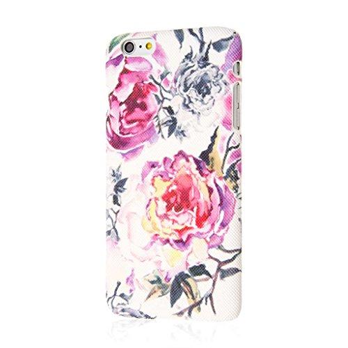 Empire Signature Series iPhone 6 Plus/6S Plus Slim Fit Phone Case - Raised Accented Edges, Diamond Knit Fabric - Pink Faded Flowers