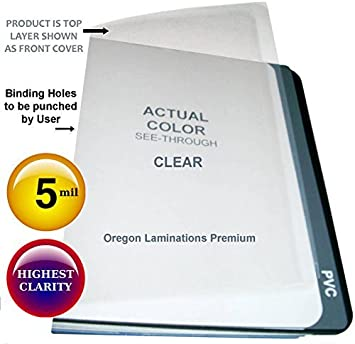 Amazon Com 11x17 Clear Binding Covers 5 Mil Plastic Sheets Pack Of 100 11 X 17 Unpunched Business Report Covers Office Products