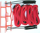 Home Court 2-inch Adjustable 30-ft Sand Court Line - 19AS (Red)