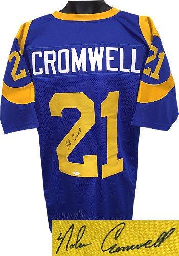 Nolan Cromwell Signed Autograph Blue Custom Throwback Stitched Pro ... ff6f1b7c4