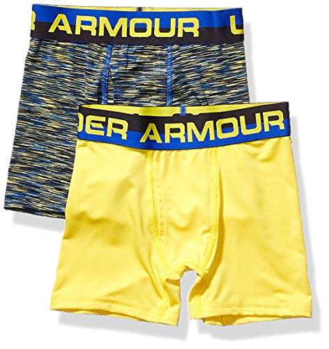 Under Armour Boys' Big Performance Boxer Briefs, Royal F, YX-Large