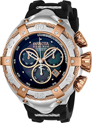 Invicta Men's 'Bolt' Quartz Stainless Steel and Silicone Casual Watch, Color:Black (Model: 21349)