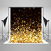 CXJ 5x7 Feet Photo Backdrop for Photography Seamless Suede Cloth Black and Shining Stars Background for Product Baby Photography Studio J01744