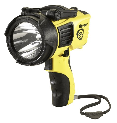 Yellow Rechargeable Flashlight - Streamlight 44910 Waypoint 1000-Lumens Spotlight with 120-Volt AC Charger, Yellow