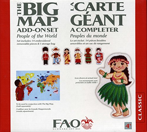 Fao Schwarz World Map.Fao Schwarz The Big Map Add On Set People Of The World