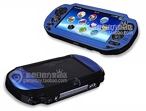 Szjay  Metal Aluminum Metallic Protection Hard Case Cover for Playstation Ps Vita 1000 (Deep Blue)