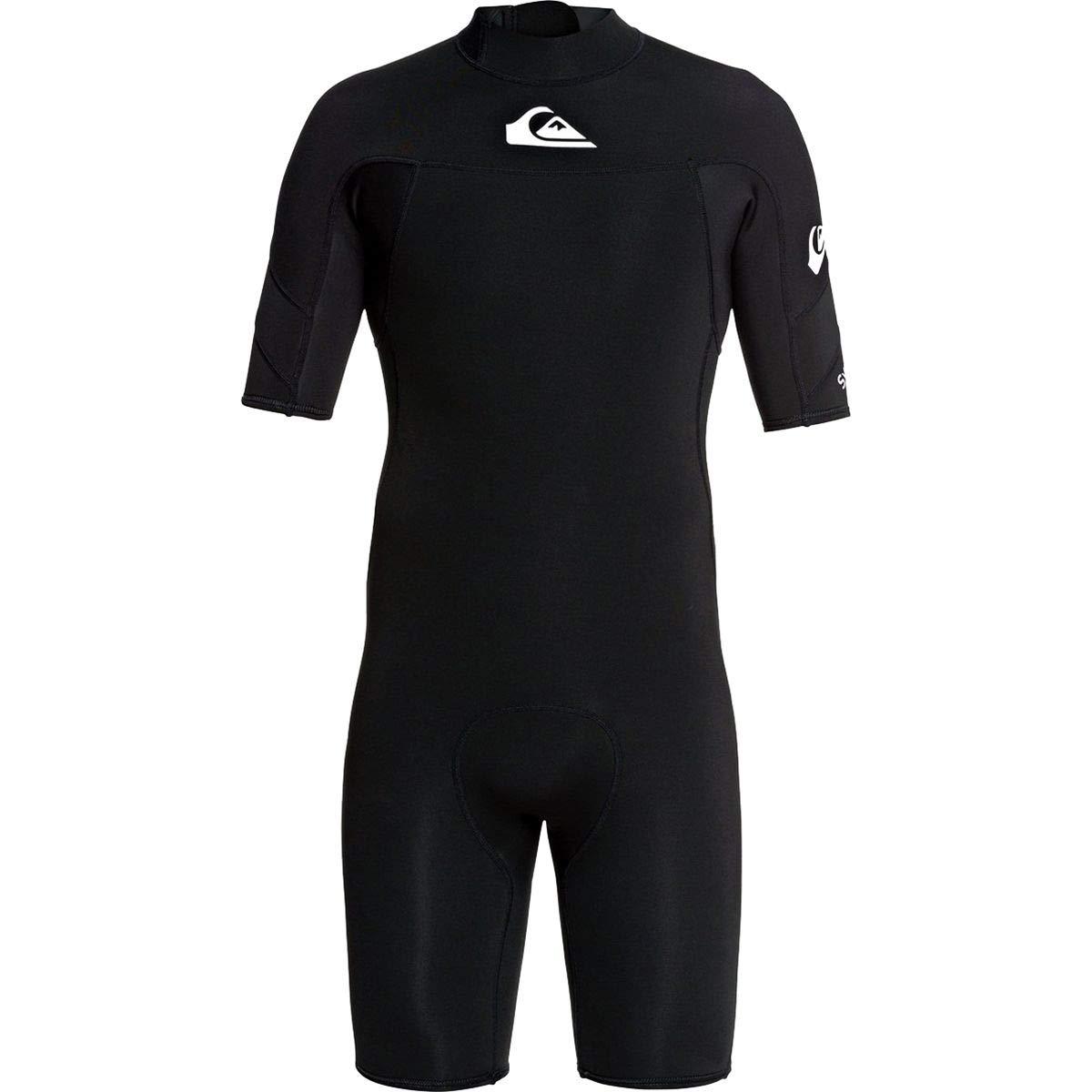 Quiksilver Men's 2/2mm Syncro Short Sleeve Back Zip FLT Springsuit Black/White XL by Quiksilver