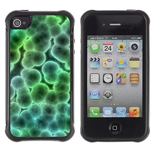 iPhone 4 / iPhone 4S , Microscope Bacteria Virus Wallpaper Art Bubble
