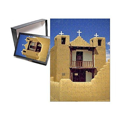 252 Piece Puzzle of USA, New Mexico, Pueblo de Taos. St. Jerome Church in Pueblo de Taos (11179179)