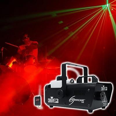 CHAUVET DJ Hurricane 1000 Fog Machine w/Wired & Wireless Remote + FJU Fog Fluid from Chauvet