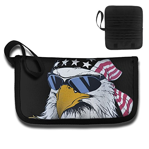 Credential Bag Card Protector Clutch Bag Funny Us Bald Eagle Sunglasses Storage Bags Toiletry - Tiffany Star Glasses