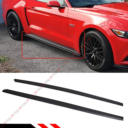 Fits for 2015-2019 Ford Mustang GT Ecoboost S550 R Style Add-on Rocker Panel Side Skirt Extension Splitters ()