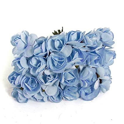 Amazon 144x mini rose bulk paper flowers wedding decor craft 144x mini rose bulk paper flowers wedding decor craft scrapbook lightblue mightylinksfo