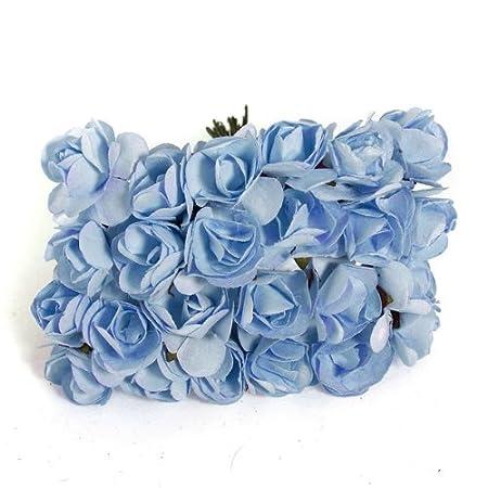 144x mini rose bulk paper flowers wedding decor craft scrapbook blue 144x mini rose bulk paper flowers wedding decor craft scrapbook blue mightylinksfo