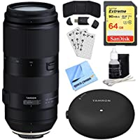 Tamron 100-400mm F/4.5-6.3 Di VC USD Lens for Canon (AFA035C-700) + Accessory Bundle Includes, TAP-In Console Lens Accessory, 64GB Memory Card, Card Reader, Card Wallet & More