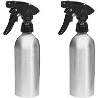 mDesign Set of 2 Spray Bottle - Refillable Aluminium Water Sprayer for Household and Garden - Ideal Garden Sprayer for Plants - Aluminium
