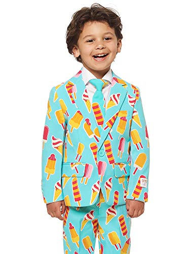 - OppoSuits Crazy Suits for Boys in Different Prints - Comes with Jacket, Pants and Tie in Funny Designs