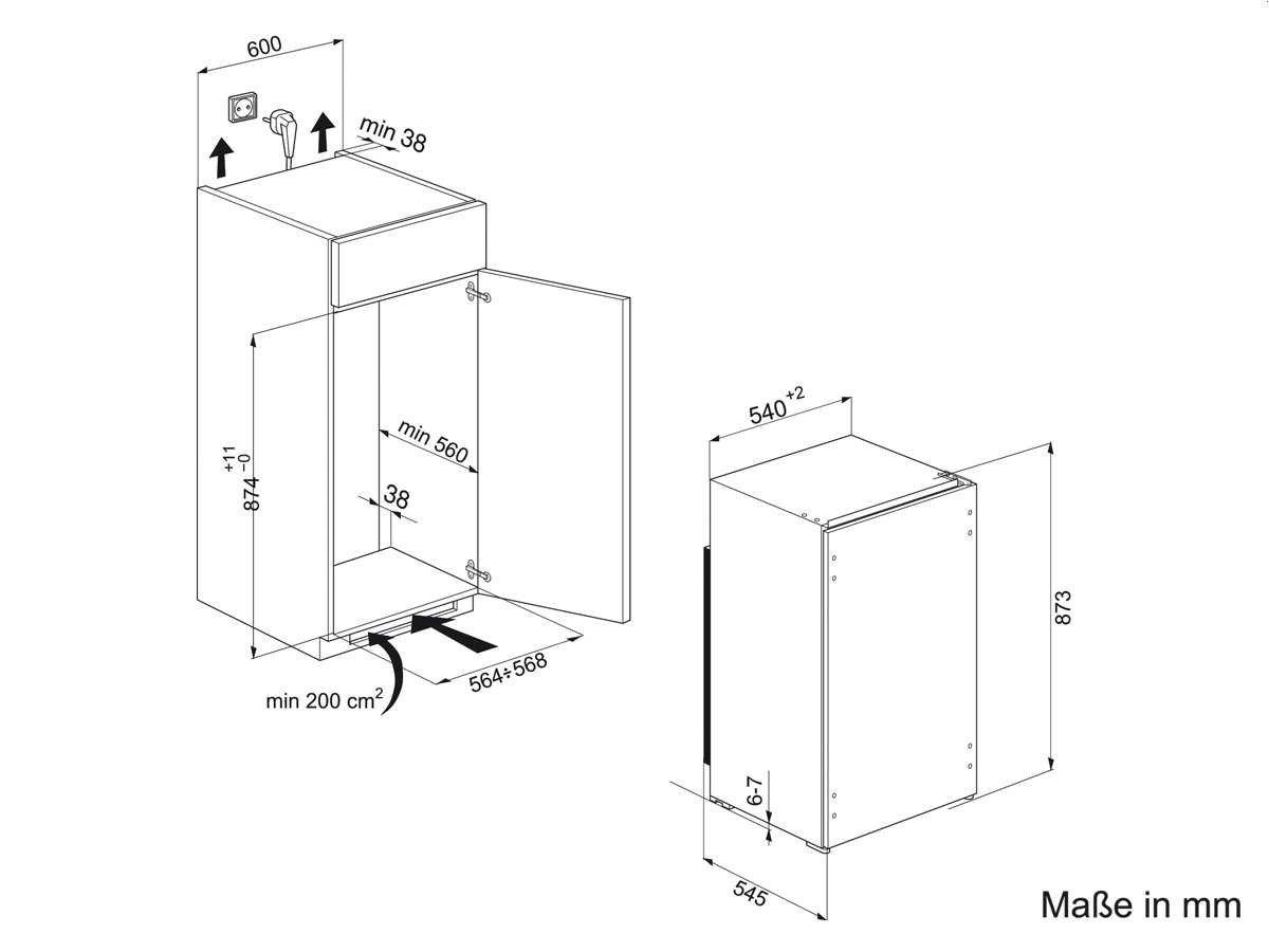 Privileg PRC 450 A+ Kühlschrank / Kühlteil 105 L / Gefrierteil 15 ...