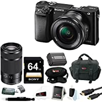 Sony a6000 Mirrorless Camera with 16-50mm Lens (Black) with Sony E 55-210mm Lens