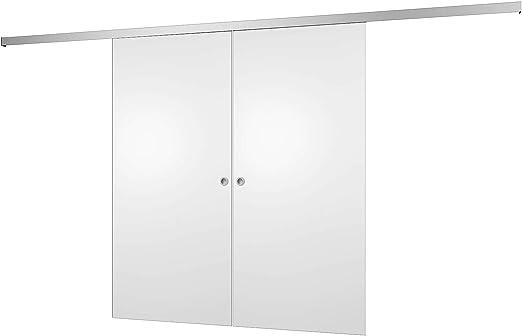 inova Star 2 flügelige Schiebetür color blanco puerta de madera ...