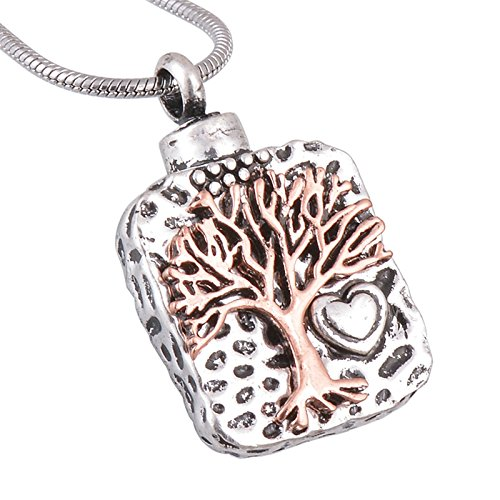 Free Hugs Bear Costume (Epinki Silver Tree Of Life Memorial Urn Necklace Stainless Steel Cremation Jewelry Pendant)