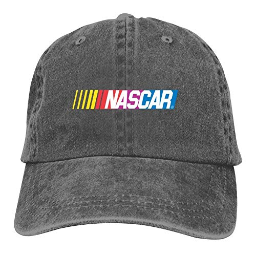 - Men Women Unisex Adult Hats Nascar Stock Car Auto Racing Logo Vintage Denim Cap Hat Adjustable Baseball Cap for Boys Girls Charcoal