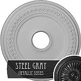 Ekena Millwork CM19CLSGS Classic Ceiling Medallion, Steel Gray