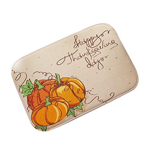 Pumpkin Pals Halloween Doormat Indoor Outdoor Halloween Floor Mat Printed Rug (A)