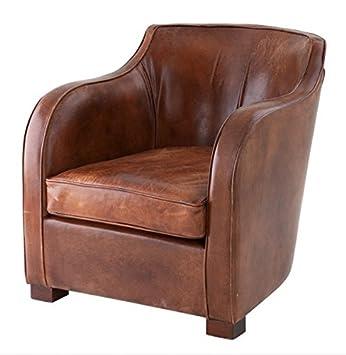 Casa Padrino Chesterfield Luxus Echt Leder Ohrensessel Scotland