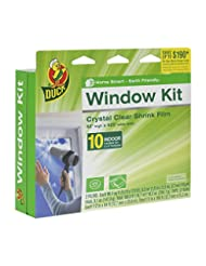 Duck Brand 281506 Indoor 10-Window Shrink Film Insulator Kit,...