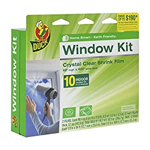 Duck Brand Indoor 10-Window Shrink Film Insulator Kit, 62-Inch x 420-Inch, 281506