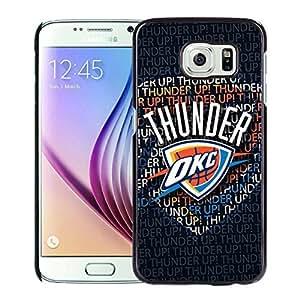 New Custom Design Cover Case For Samsung Galaxy S6 Oklahoma City Thunder 1 Black Phone Case