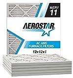 Aerostar 12x12x1 MERV 11 Pleated Air Filter, Pleated (Pack of 6)