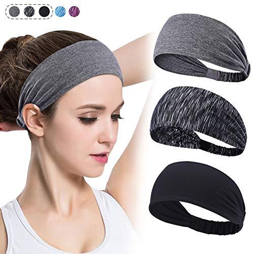 - DAJU Women Yoga Headbands Moisture Wicking Running Fitness Sports Sweatband for Men Non Slip Elastic Wide Turban Knotted Cross Riding,Basketball,Running,Dancing,Pilates.3 Pack
