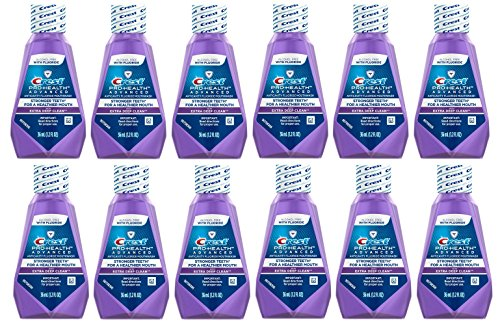 Travel Size Mouthwash - Crest Pro-Health Advanced Anticavity Fluoride Mouthwash/Rinse, Alcohol Free, Travel Size 36 ml (1.2 fl oz) - 12 Pack