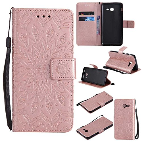 Galaxy J5 2017 Case, KKEIKO® Galaxy J5 2017 Flip Leather Case [with Free Tempered Glass Screen Protector], Shockproof Bumper Cover and Premium Wallet Case for Samsung Galaxy J5 2017 (Pink #2)